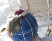 Molded Pin Cushions 2 - Recycled Felted Wool Sweaters