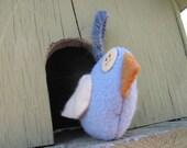 Felted Wool Bird - Tweetie 3 - Recycled Felted Wool Sweater Bird
