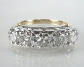 Vintage Diamond Wedding Ring - 1.02 Carats Diamond Total Weight - Appraisal Included