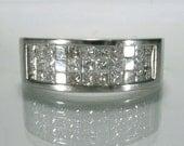 Vintage Diamond Princess Cut Diamond Wedding Band - 1.00 Carat Total Weight