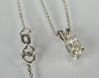 Marquise Diamond Solitaire Pendant - 0.60 Carat