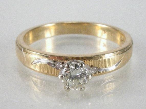 RESERVED FOR STEVE - Vintage 0.20 Carat Diamond Engagement Ring