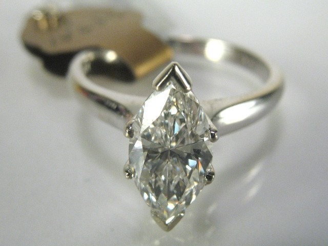 GIA Certified Marquise Diamond Vintage Engagement Ring