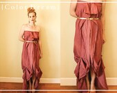 History Of Romance, Asymmetrical Maxi Dress, Raspberry