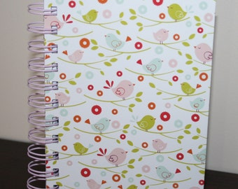 Birds in Springtime - Spiral Bound Notebook