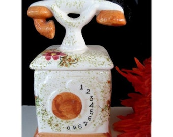 Trinket Box * OLD FASHIONED TELEPHONE * Ceramic Box