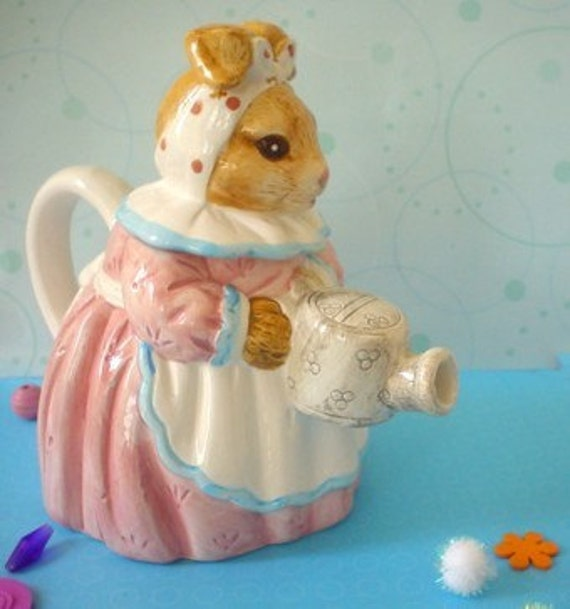 Ms Rabbit Teapot Heritage Mint Ltd By Notforgottenvintage
