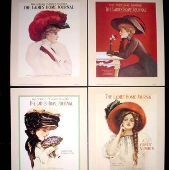 1983 Fisher Girl Prints From Ladies Home Journal Covers