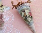 Victorian Tussie Mussie Paper Cone