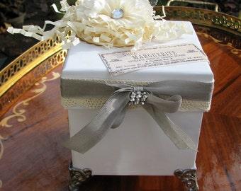 Shabby Chic Trinket Jewelry Box