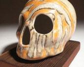 Orange and Crackle Skull