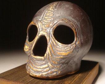 Metallic Sad Eyes Skull