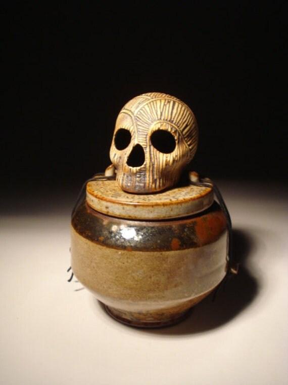 Line Man Covered Jar