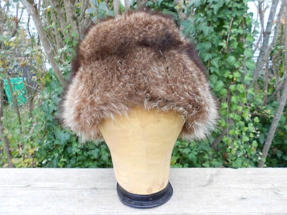 Raccoon Fur Hat / Genuine Fur