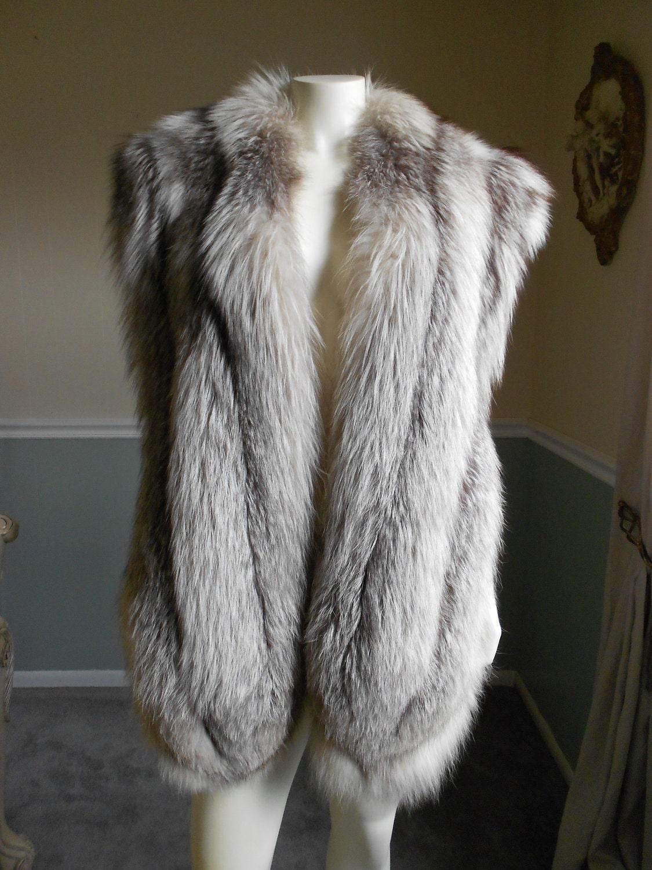 Fox Fur Stole Silver Fox Large Stole
