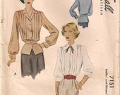 "1947 factory folded blouse McCall 7151 bust 40"" / 102cm"
