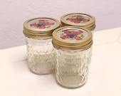 vintage Ball quilted crystal jelly jars - set of 3
