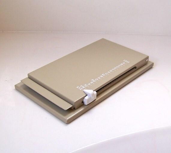 vintage Rolodex metal flip up address book
