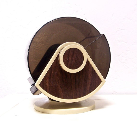 vintage wood grain rolodex with dome top & swivel base