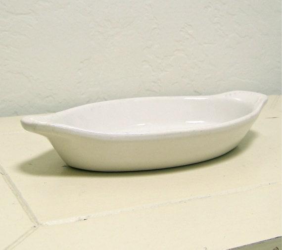 50% off vintage white ironstone casserole dish