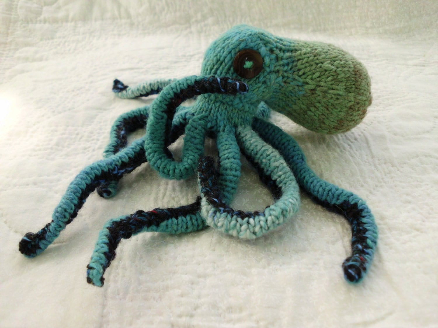 Knitting Pattern Octopus Toy : Hand Knit Amigurumi Octopus Stuffed Animal Toy