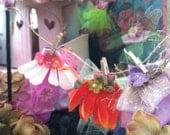 Fairy Dresses For the Garden. Fairy miniatures