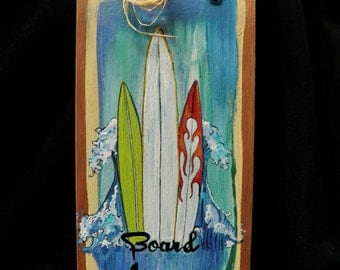 Hand Painted wooden sign Surf boards