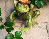 Paper Mache Frog Prince Scupture