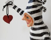 Here's my Heart Papier Mache Sculpture
