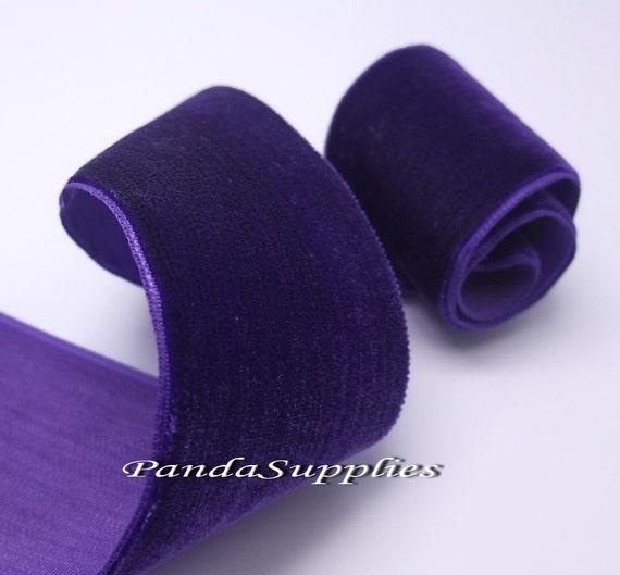 1-1/2 inch Amethyst Purple Velvet Ribbon - 6 yards (RN005-C1)