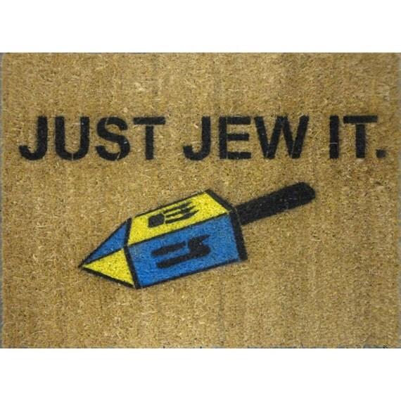 Jewish Judaica Just Jew It Door Mat Hanukkah By
