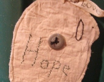 Primitive Style Sheep Ornament/Muslin Fabric/ Hand Embroidered**