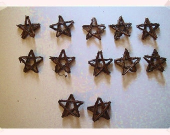 Small Vine Stars/Set of 12/Assorted Sizes/ Craft Supplies*