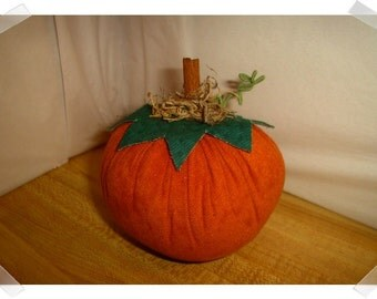 Medium Suede Pumpkin/ Holiday Decor/ Handmade*