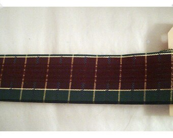Plaid Ribbon/ 3 Yards/ Red/Green/Gold/Craft Supplies*