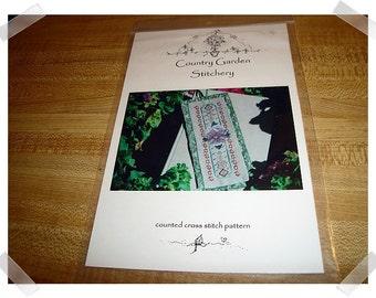 Cross Stitch PATTERN /Purple Pansy Bookmark/Craft Supplies*