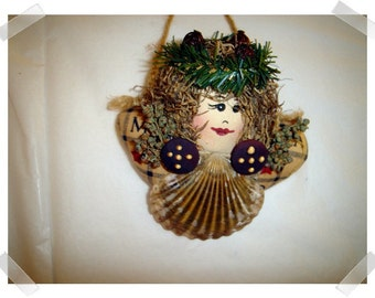 Lady Shell Ornament/Handmade**
