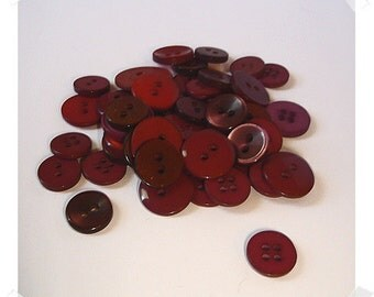 Red Buttons/Assorted Shades/Craft Supplies (#024)*
