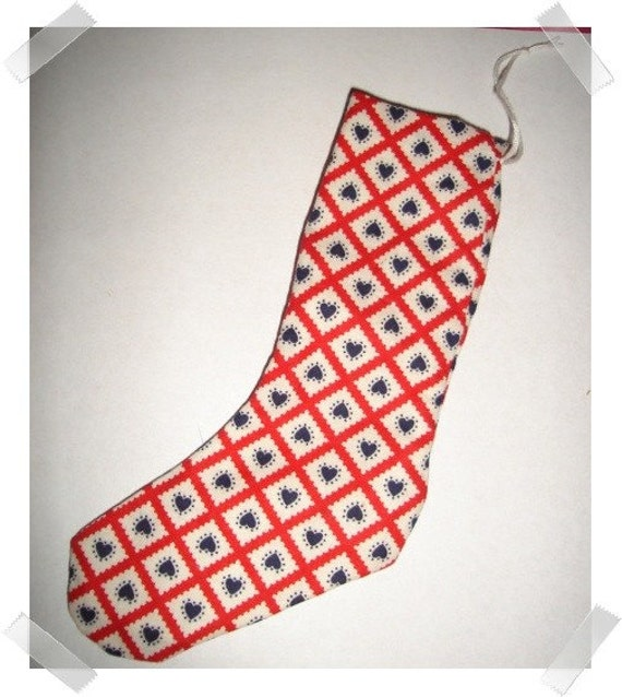 Small Stocking Ornament /Handmade**