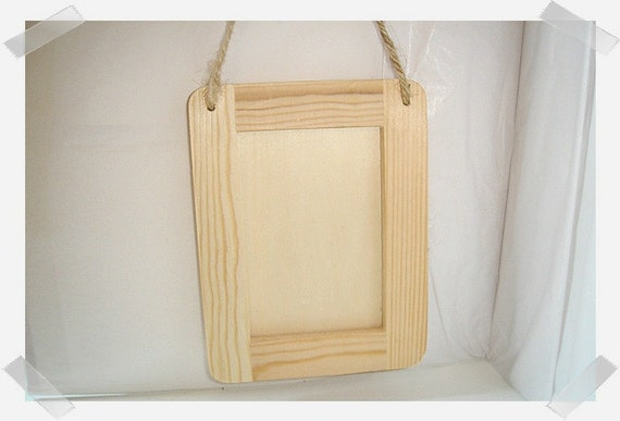Unfinished Wooden Frame w/Jute Hanger/FREE SHIPPING