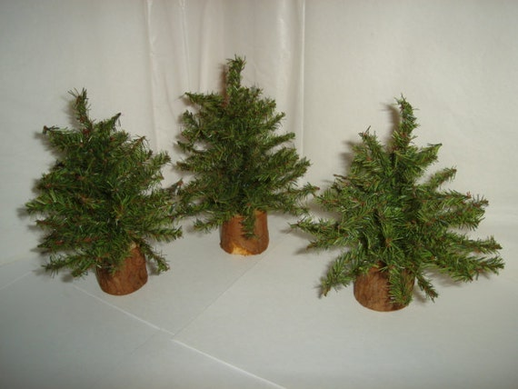 artificial pine tree decoration set of 3 by kathyscraftroom55