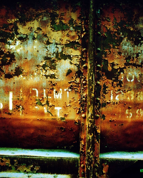 Train no. 1  8 X 10 Print rusty train car photograph railroad