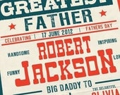 Australia Fathers day Custom vintage boxing poster printable PDF