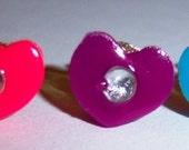Teeny Tiny Neon Heart Earrings