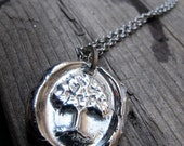 Most Beautiful Tree of Life Wax Seal Pendant in Silver