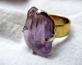 Raw Earth Amethyst Ring