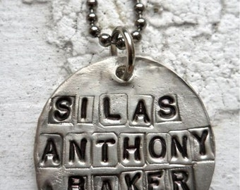 Rustic Round Name Medal