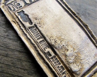 Custom BRONZE Vintage Ticket Dog Tag (Single)