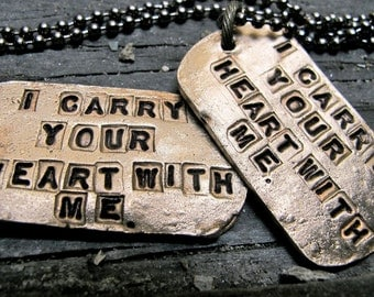 Yours & Mine BRONZE Dog Tags