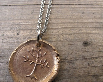 Young Tree of Life Wax Seal Pendant
